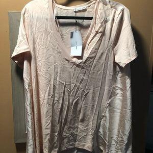 Zara blush shirt XL NWT
